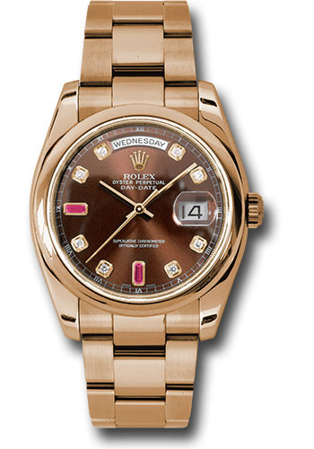 Rolex Watches - Day-Date President Pink Gold - Domed Bezel - Oyster - Style No: 118205 chodro