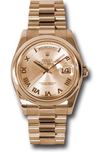 Rolex Watches - Day-Date President Pink Gold - Domed Bezel - President - Style No: 118205 chrp