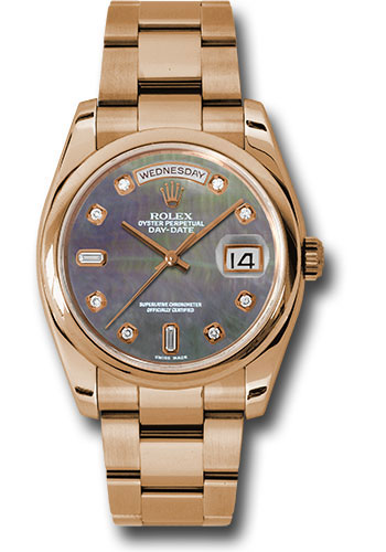 Rolex Watches - Day-Date 36 Pink Gold - Domed Bezel - Oyster - Style No: 118205 dkmdo