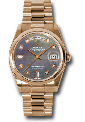 Rolex Watches - Day-Date President Pink Gold - Domed Bezel - President - Style No: 118205 dkmdp