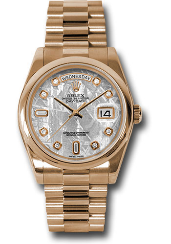 Rolex Watches - Day-Date President Pink Gold - Domed Bezel - President - Style No: 118205 mtdp