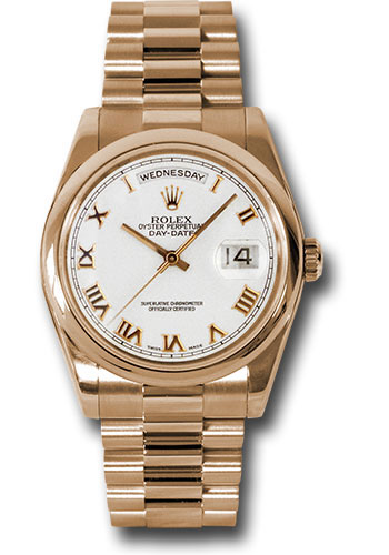 Rolex Watches - Day-Date President Pink Gold - Domed Bezel - President - Style No: 118205 wrp
