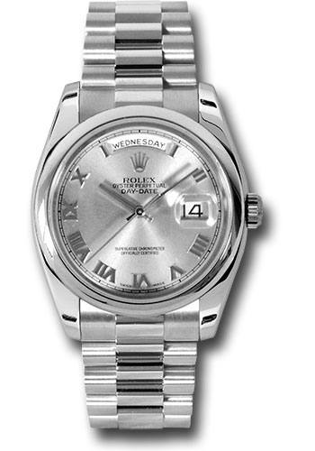 Rolex Watches - Day-Date President Platinum - Domed Bezel - President - Style No: 118206 grp