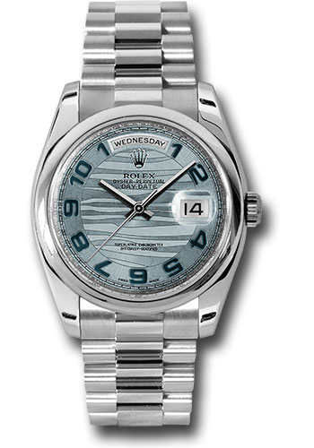 Rolex Watches - Day-Date President Platinum - Domed Bezel - President - Style No: 118206 glawap