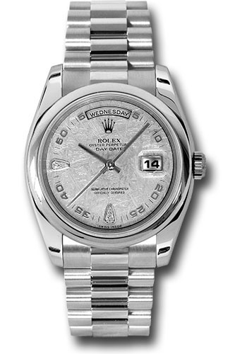 Pre-Owned Rolex Watches - Day-Date President Platinum - Domed Bezel - President - Style No: V118206mtdp