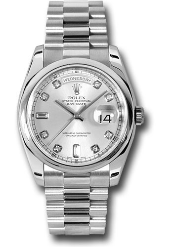Rolex Watches - Day-Date President Platinum - Domed Bezel - President - Style No: 118206 sdp