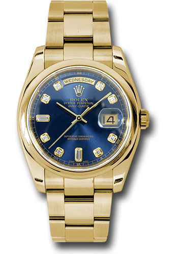 Rolex Watches - Day-Date President Yellow Gold - Domed Bezel - Oyster - Style No: 118208 bdo