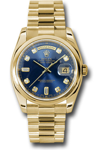 Rolex Watches - Day-Date 36 Yellow Gold - Domed Bezel - President - Style No: 118208 bdp