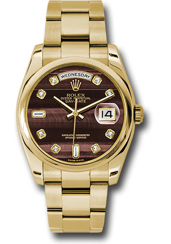 Rolex Watches - Day-Date President Yellow Gold - Domed Bezel - Oyster - Style No: 118208 bedo