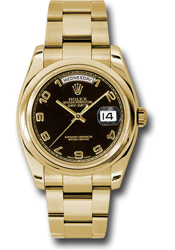 Rolex Watches - Day-Date President Yellow Gold - Domed Bezel - Oyster - Style No: 118208 bkao