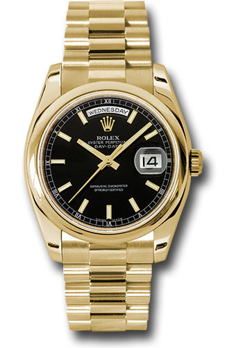 Rolex Watches - Day-Date 36 Yellow Gold - Domed Bezel - President - Style No: 118208 bksp
