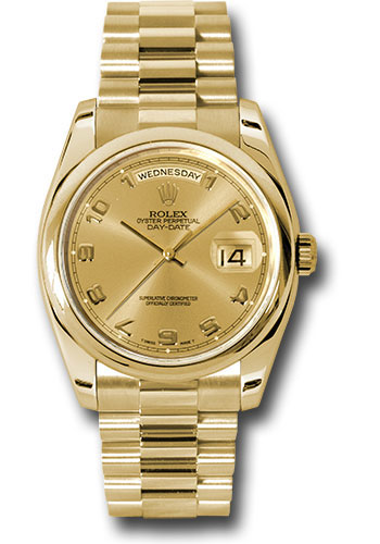Rolex Watches - Day-Date 36 Yellow Gold - Domed Bezel - President - Style No: 118208 chap
