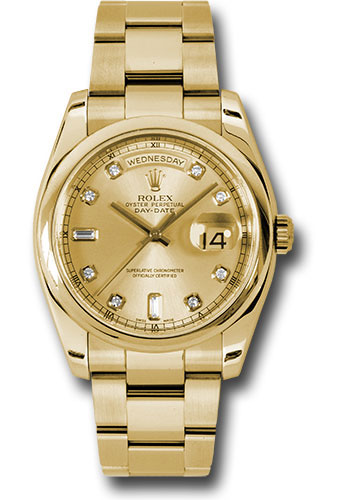 Rolex Watches - Day-Date President Yellow Gold - Domed Bezel - Oyster - Style No: 118208 chdo