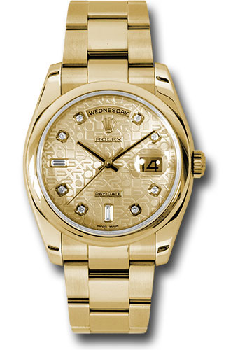 Rolex Watches - Day-Date President Yellow Gold - Domed Bezel - Oyster - Style No: 118208 chjdo