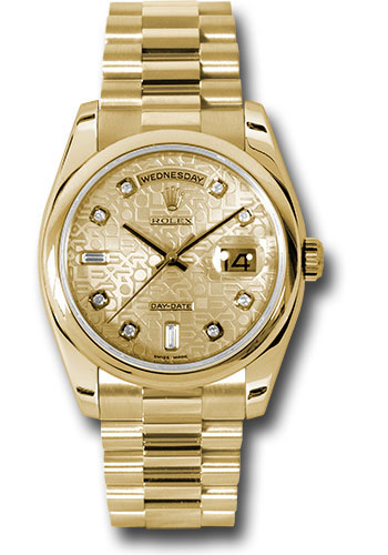 Rolex Watches - Day-Date President Yellow Gold - Domed Bezel - President - Style No: 118208 chjdp