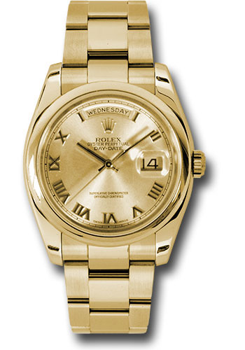 Rolex Watches - Day-Date President Yellow Gold - Domed Bezel - Oyster - Style No: 118208 chro