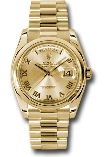 Rolex Watches - Day-Date President Yellow Gold - Domed Bezel - President - Style No: 118208 chrp