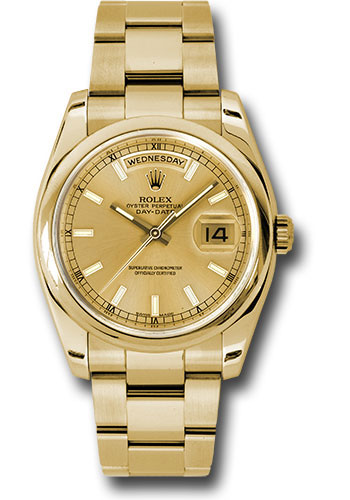 Rolex Watches - Day-Date President Yellow Gold - Domed Bezel - Oyster - Style No: 118208 chso