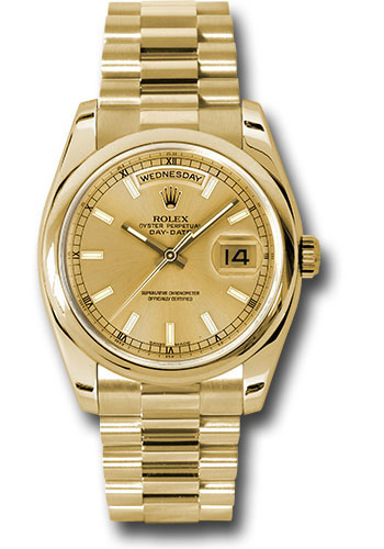 Rolex Watches - Day-Date President Yellow Gold - Domed Bezel - President - Style No: 118208 chsp