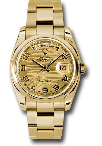 Rolex Watches - Day-Date President Yellow Gold - Domed Bezel - Oyster - Style No: 118208 chwao