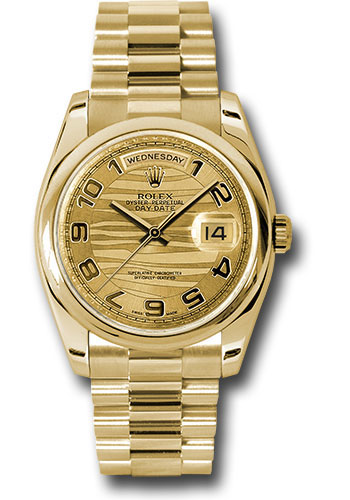 Rolex Watches - Day-Date President Yellow Gold - Domed Bezel - President - Style No: 118208 chwap