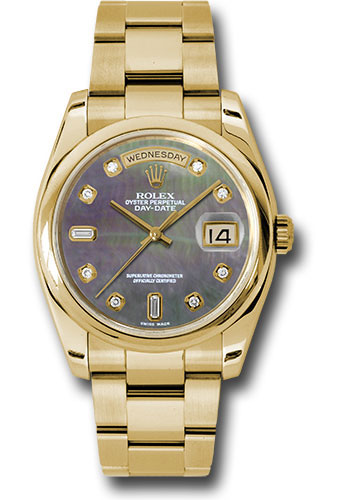 Rolex Watches - Day-Date President Yellow Gold - Domed Bezel - Oyster - Style No: 118208 dkmdo
