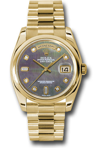 Rolex Watches - Day-Date President Yellow Gold - Domed Bezel - President - Style No: 118208 dkmdp