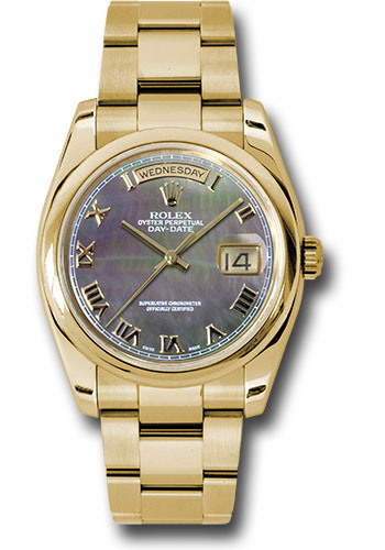 Rolex Watches - Day-Date President Yellow Gold - Domed Bezel - Oyster - Style No: 118208 dkmro