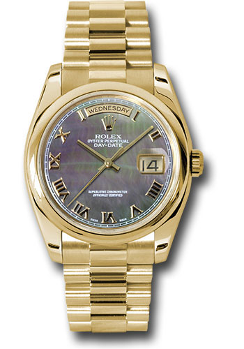 Rolex Watches - Day-Date 36 Yellow Gold - Domed Bezel - President - Style No: 118208 dkmrp