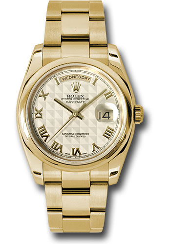 Rolex Watches - Day-Date President Yellow Gold - Domed Bezel - Oyster - Style No: 118208 ipro