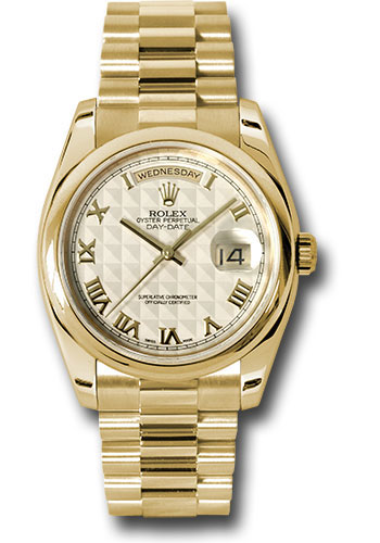 Rolex Watches - Day-Date President Yellow Gold - Domed Bezel - President - Style No: 118208 iprp