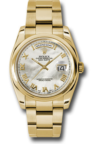 Rolex Watches - Day-Date President Yellow Gold - Domed Bezel - Oyster - Style No: 118208 mro