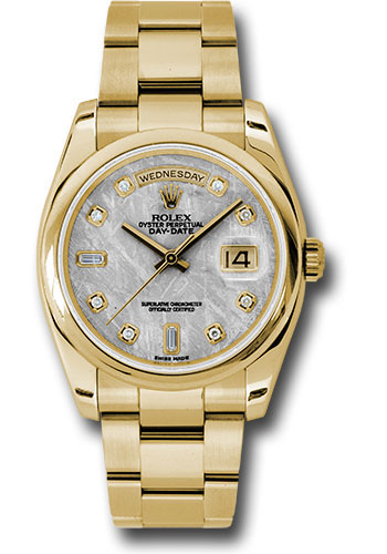 Rolex Watches - Day-Date President Yellow Gold - Domed Bezel - Oyster - Style No: 118208 mtdo