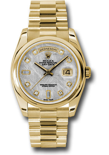 Rolex Watches - Day-Date 36 Yellow Gold - Domed Bezel - President - Style No: 118208 mtdp
