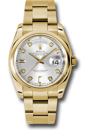 Rolex Watches - Day-Date President Yellow Gold - Domed Bezel - Oyster - Style No: 118208 sdo