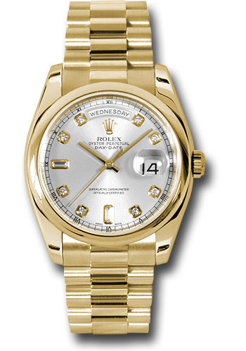 Rolex Watches - Day-Date President Yellow Gold - Domed Bezel - President - Style No: 118208 sdp