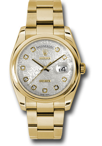 Rolex Watches - Day-Date President Yellow Gold - Domed Bezel - Oyster - Style No: 118208 sjdo