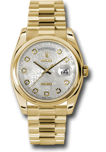 Rolex Watches - Day-Date President Yellow Gold - Domed Bezel - President - Style No: 118208 sjdp