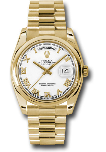 Rolex Watches - Day-Date President Yellow Gold - Domed Bezel - President - Style No: 118208 wrp