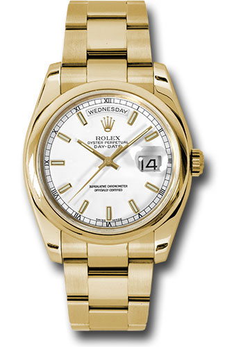Rolex Watches - Day-Date President Yellow Gold - Domed Bezel - Oyster - Style No: 118208 wso