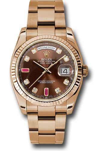 Rolex Watches - Day-Date President Pink Gold - Fluted Bezel - Oyster - Style No: 118235 chodro