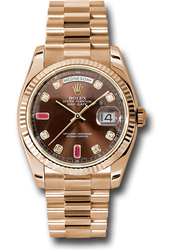 Rolex Watches - Day-Date President Pink Gold - Fluted Bezel - President - Style No: 118235 chodrp