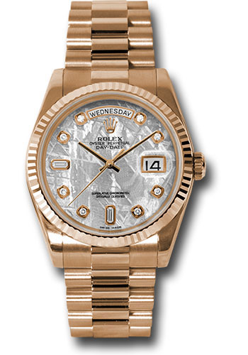 Rolex Watches - Day-Date President Pink Gold - Fluted Bezel - President - Style No: 118235 mtdp