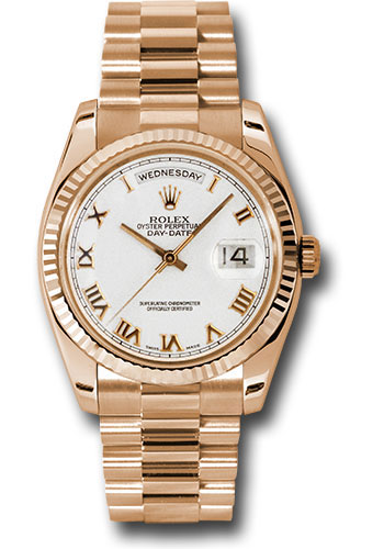 Rolex Watches - Day-Date President Pink Gold - Fluted Bezel - President - Style No: 118235 wrp