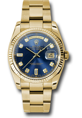 Rolex Watches - Day-Date President Yellow Gold - Fluted Bezel - Oyster - Style No: 118238 bdo