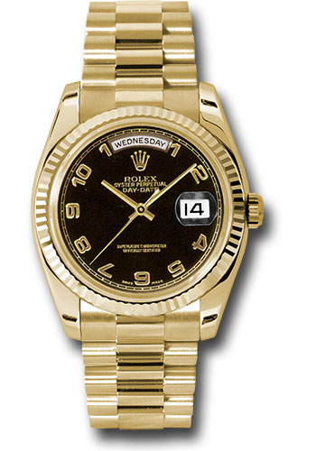 Rolex Watches - Day-Date President Yellow Gold - Fluted Bezel - President - Style No: 118238 bkap
