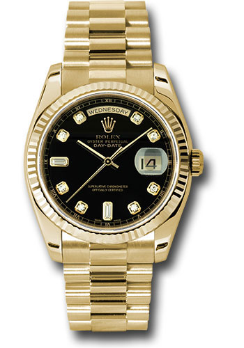 Rolex Watches - Day-Date President Yellow Gold - Fluted Bezel - President - Style No: 118238 bkdp