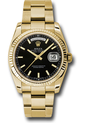 Rolex Watches - Day-Date President Yellow Gold - Fluted Bezel - Oyster - Style No: 118238 bkso