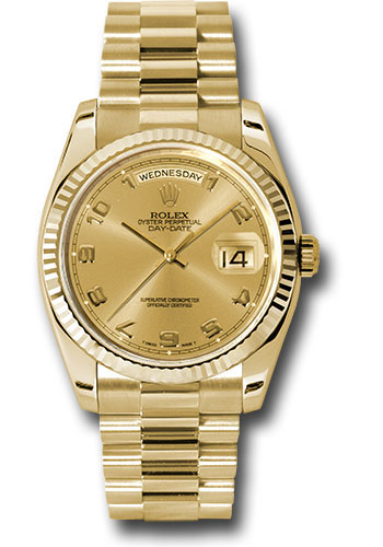 Rolex Watches - Day-Date President Yellow Gold - Fluted Bezel - President - Style No: 118238 chap