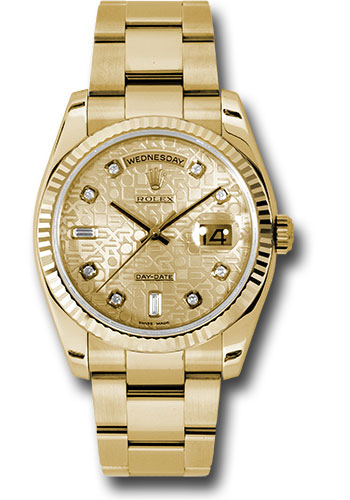 Rolex Watches - Day-Date 36 Yellow Gold - Fluted Bezel - Oyster - Style No: 118238 chjdo